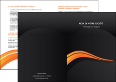 faire modele a imprimer depliant 2 volets  4 pages  web design orange gris couleur froide MIF80442
