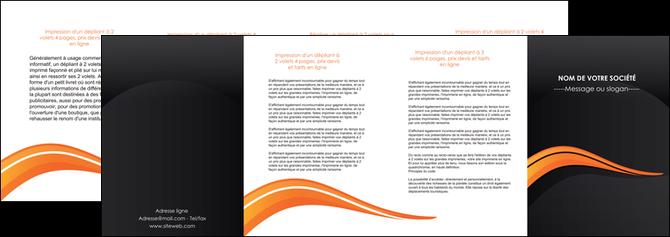 creation graphique en ligne depliant 4 volets  8 pages  web design orange gris couleur froide MLGI80444