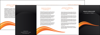 creation graphique en ligne depliant 4 volets  8 pages  web design orange gris couleur froide MID80444