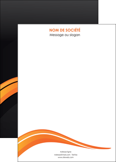 personnaliser modele de affiche web design orange gris couleur froide MIF80446