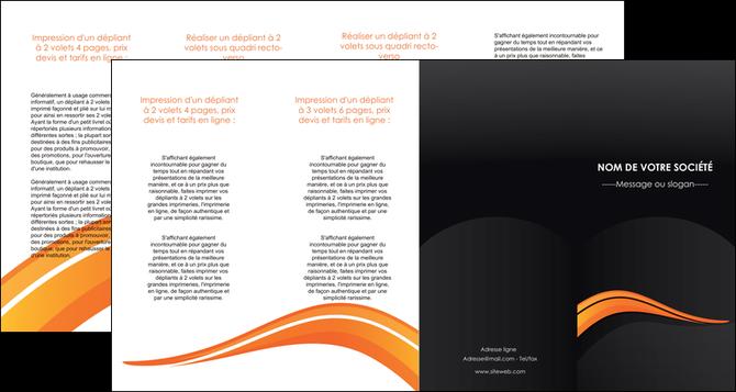 personnaliser modele de depliant 4 volets  8 pages  web design orange gris couleur froide MLGI80448