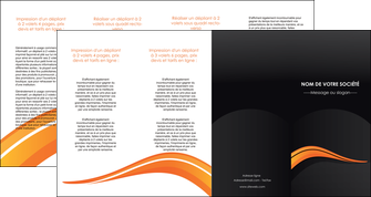 personnaliser modele de depliant 4 volets  8 pages  web design orange gris couleur froide MIF80448
