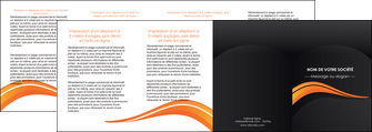 modele en ligne depliant 4 volets  8 pages  web design orange gris couleur froide MIS80450