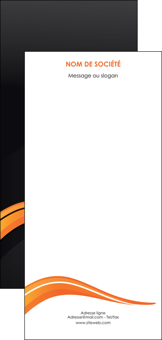 modele flyers web design orange gris couleur froide MLGI80452
