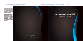 realiser depliant 2 volets  4 pages  web design gris fond gris fond MLGI80834