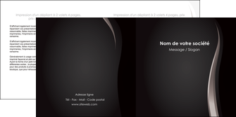 maquette en ligne a personnaliser depliant 2 volets  4 pages  web design gris fond gris simple MLGI81154