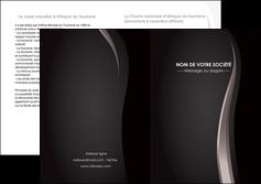 personnaliser maquette depliant 2 volets  4 pages  web design gris fond gris simple MLGI81164
