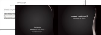 impression depliant 2 volets  4 pages  web design gris fond gris simple MLGI81168