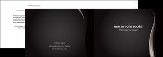 impression depliant 2 volets  4 pages  web design gris fond gris simple MLGI81170