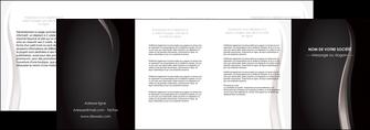 modele depliant 4 volets  8 pages  web design gris fond gris simple MLGI81188