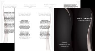 creer modele en ligne depliant 4 volets  8 pages  web design gris fond gris simple MLGI81192