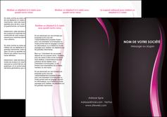 impression depliant 3 volets  6 pages  violet fond violet gris MLGI81202