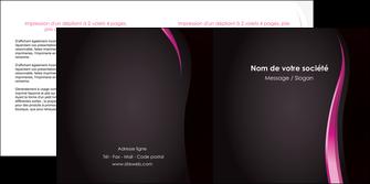 faire modele a imprimer depliant 2 volets  4 pages  violet fond violet gris MLGI81206