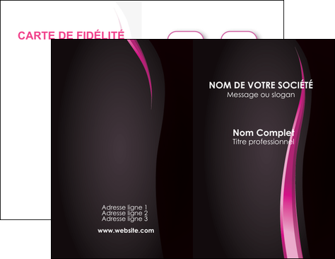 maquette en ligne a personnaliser carte de visite violet fond violet gris MLGI81228