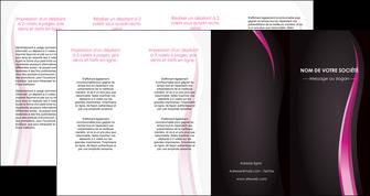 realiser depliant 4 volets  8 pages  violet fond violet gris MLGI81244