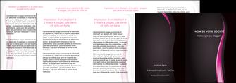 cree depliant 4 volets  8 pages  violet fond violet gris MLGI81246