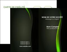 Commander cartes visites vernis selectif Web Design Carte commerciale de fidélité papier publicitaire et imprimerie Carte de visite Double - Portrait
