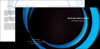 impression depliant 2 volets  4 pages  web design bleu couleurs froides abstrait MLGI81310