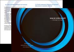 modele en ligne depliant 2 volets  4 pages  web design bleu couleurs froides abstrait MLGI81320