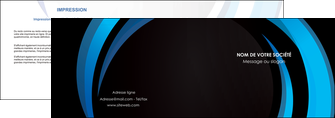 modele depliant 2 volets  4 pages  web design bleu couleurs froides abstrait MLGI81324