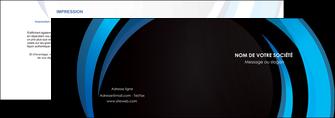 impression depliant 2 volets  4 pages  web design bleu couleurs froides abstrait MLGI81326