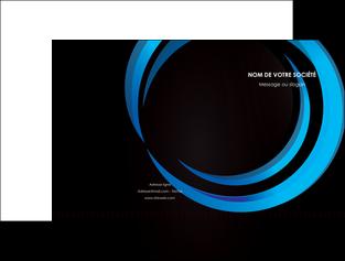 imprimerie pochette a rabat web design bleu couleurs froides abstrait MLGI81328
