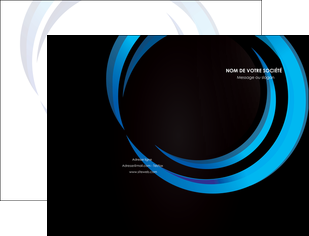 modele pochette a rabat web design bleu couleurs froides abstrait MLGI81330