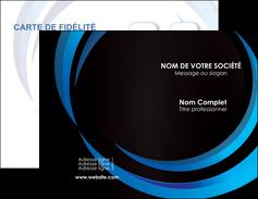 modele carte de visite web design bleu couleurs froides abstrait MLIG81332