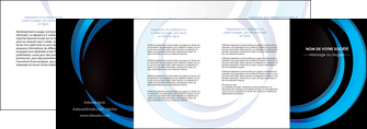 imprimer depliant 4 volets  8 pages  web design bleu couleurs froides abstrait MLGI81344
