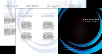 personnaliser maquette depliant 4 volets  8 pages  web design bleu couleurs froides abstrait MLGI81348
