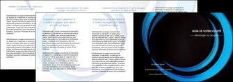 creation graphique en ligne depliant 4 volets  8 pages  web design bleu couleurs froides abstrait MLGI81350