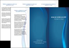Impression Plaquette entreprise Web Design devis d'imprimeur publicitaire professionnel Dépliant 6 pages Pli roulé DL - Portrait (10x21cm lorsque fermé)