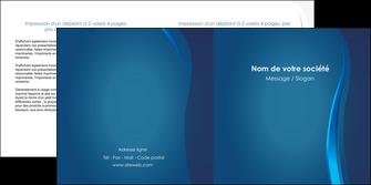 exemple depliant 2 volets  4 pages  web design bleu couleurs froides fond bleu MIF81586