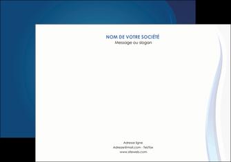 modele flyers web design bleu couleurs froides fond bleu MIF81590