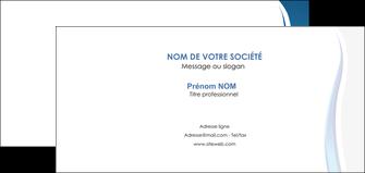creer modele en ligne carte de correspondance web design bleu couleurs froides fond bleu MIF81594