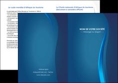 creation graphique en ligne depliant 2 volets  4 pages  web design bleu couleurs froides fond bleu MIF81596