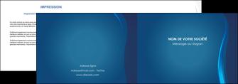creer modele en ligne depliant 2 volets  4 pages  web design bleu couleurs froides fond bleu MIF81600
