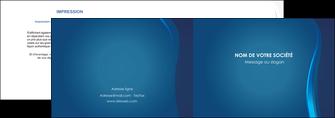 modele en ligne depliant 2 volets  4 pages  web design bleu couleurs froides fond bleu MIF81602
