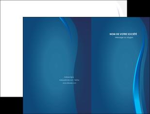 imprimer pochette a rabat web design bleu couleurs froides fond bleu MLIG81606