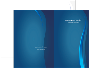 imprimer pochette a rabat web design bleu couleurs froides fond bleu MIF81606
