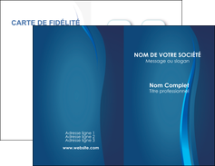 creer modele en ligne carte de visite web design bleu couleurs froides fond bleu MIF81608