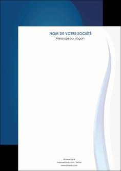 creer modele en ligne affiche web design bleu couleurs froides fond bleu MIF81610