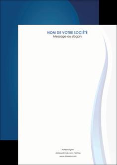 creer modele en ligne flyers web design bleu couleurs froides fond bleu MIF81616