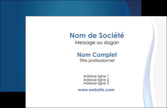 imprimer carte de visite web design bleu couleurs froides fond bleu MIF81618