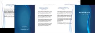 imprimerie depliant 4 volets  8 pages  web design bleu couleurs froides fond bleu MIF81620