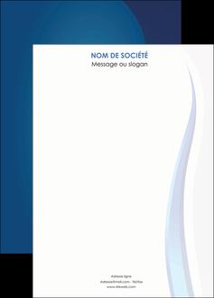 faire modele a imprimer affiche web design bleu couleurs froides fond bleu MIF81622
