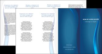 imprimer depliant 4 volets  8 pages  web design bleu couleurs froides fond bleu MIF81624