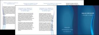 creer modele en ligne depliant 4 volets  8 pages  web design bleu couleurs froides fond bleu MIF81626