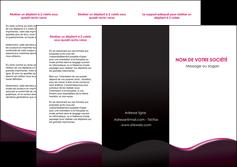 realiser depliant 3 volets  6 pages  web design violet noir fond noir MLIG81946