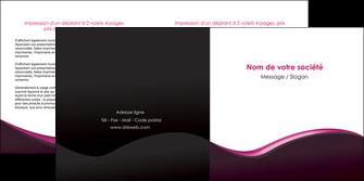 personnaliser maquette depliant 2 volets  4 pages  web design violet noir fond noir MLGI81950